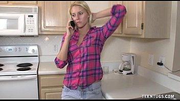 Cute Teen Handjob In The Kitchen 5 min