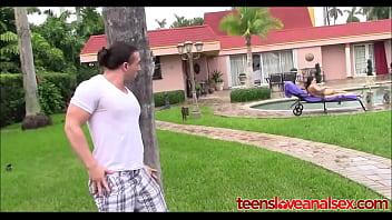 Peeping Tom Gets Caught And Fucks Girl In Ass - TeensLoveAnalSex.com