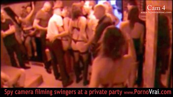 Swinger party private photos French swinger party in a private club part 04
