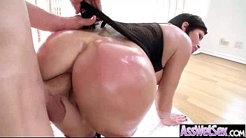 (shay fox) Big Butt Girl Get Oiled And Hard Deep Anal Nailed clip-27