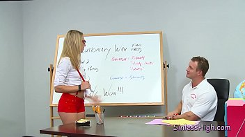 Sexy teacher make out - Student strips for dressing like a whore