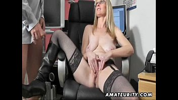 Yankee suck apparel - Busty amateur milf sucks and fucks with cum on boots