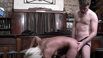 Guy changing sex Granny shanael enjoys strapon sex with a french guy and fucks him in his little tiny asshole