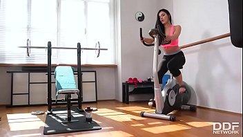Horny gym sex