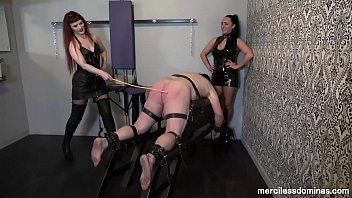 Mature domme london Caned for pleasure - hard and merciless pounding by rebekka raynor and chloe lovette