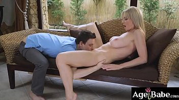 After catching up with Nikki, mature   Nadya spread her legs for the young stallion thumbnail