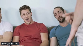 (Colby Keller, Jacob Peterson, Paul Canon, Roman Cage, Trevor Long) - My Whore Of A Roommate - Jizz Orgy - Trailer preview - Men.com