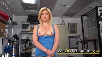Hot blonde is commanded to do everything her boss tells her