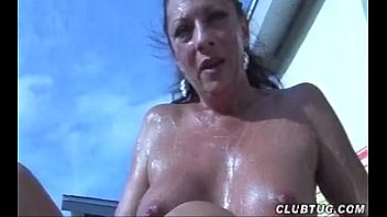 Naked Mature Lady Handjob