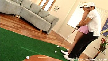 Alabama golf ass - Beautiful busty babe gets fucked hard after her golf lessons