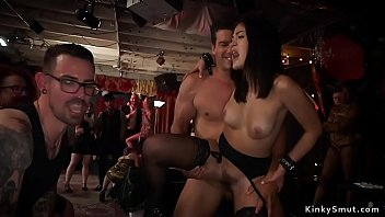 Slaves fucked and fisted at orgy bdsm