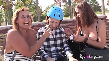 Threesome with big tits movies - Two mature mommies as lunch for filipe the ratkid