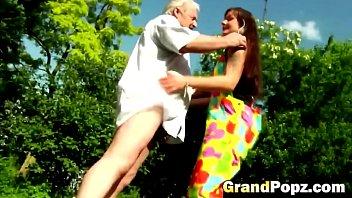 lusty lady has a wild fuck with horny grandpopz