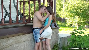 Hairy teen pussy fucked - Beauty teen evelina getting pounded outdoors