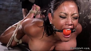 Free hogtied extreme sex videos - Huge tits slave made to squirt in dungeon