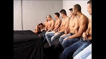 Boobs ten Experienced slut in black lingerie evelin gives blowjob to ten muscular guys