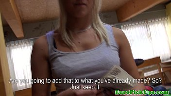 Picked up teen gives bj and shows body