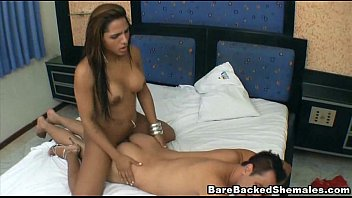 Awesome Bareback Sex Of Shemale