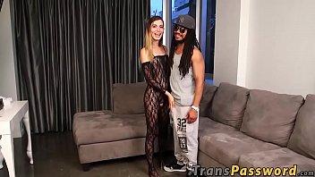 Cute TS latina Korra Del Rio wants to try a huge black cock
