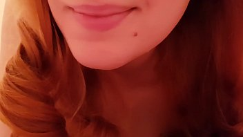 SWEET REDHEAD ASMR GIRLFRIEND RELAXES YOU IN BED