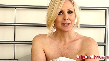 Milf Julia Ann Tries on Lingerie & Masturbates!