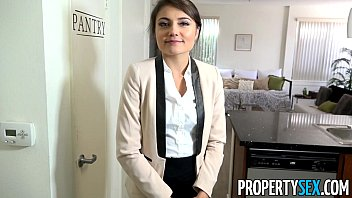 PropertySex - Ridiculously attractive real estate agent fucks her ex boyfriend