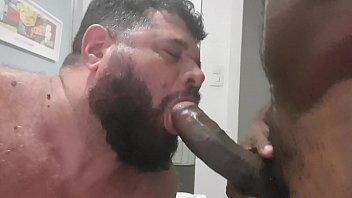 Gay black sex aablack Mamando a pirocona preta do negão
