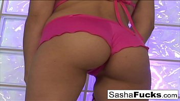 Hot brunette Sasha takes the cock in every hole