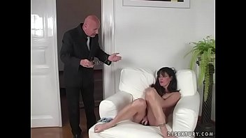 Milf gives young stud blowjob Brunette milf gets fucked hard