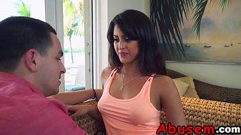 Kinky Latina Sophia Leone enjoys rough pussy banging with her loverd-2