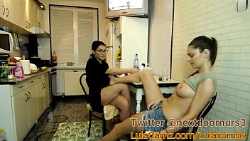 Hot Lesbian Plays With Her Friend on Cam Then Squirts in the kitchen chaturbate lulacum69