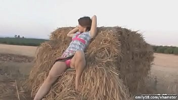 Emily frances naked pics - Emily18 - naked teen on a pile of hay
