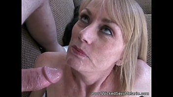 Horny wives mature Two cocks for horny mother