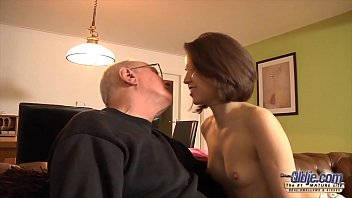 Sweet and sexy 18yo takes facial cumshot from old man after she fucks his brains out - 69VClub.Com