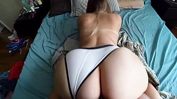 Blonde hose in pantie pussy white The best doggystyle in my life