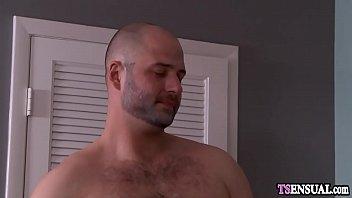 Mature shemale fucks a new boyfriend in his asshole