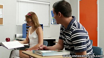 InnocentHigh Cute teen rides cock in the classroom 8分钟