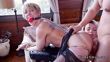 Darling bondage Huge tits milf anal fucked in threesome
