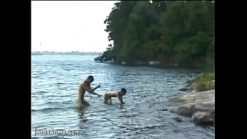 Gay nudists - Hot naked bathers banging on the shore of the lake