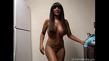 Sexy older wifes Big tits cougar shows off her sexy body