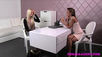 beauty dior ◦ femaleagent incredible blonde strikes a sexual deal with insatiable agent thumbnail
