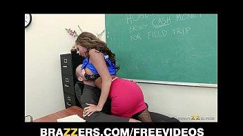 Slutty school teacher Richelle Ryan fucks the school janitor