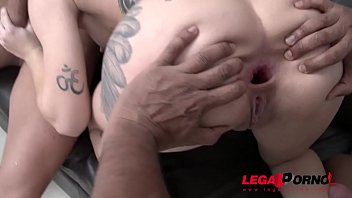 Young Brazilian Slut Alice Alcantara DP'ed by two monster cocks