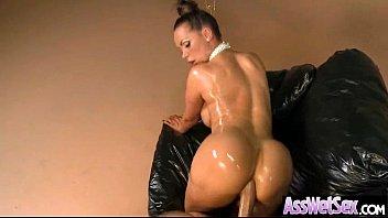 Big Wet Oiled Up Ass Slut Girl Get Anal Deep Bang video-26