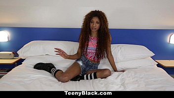 TeenyBlack - Petite Ebony Does Splits While Riding Dick