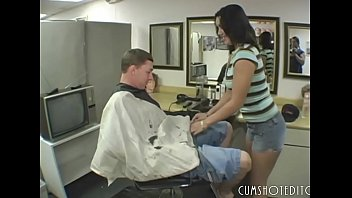 Hot Hairdresser Slut Sucking And Fucking A Client's Dick