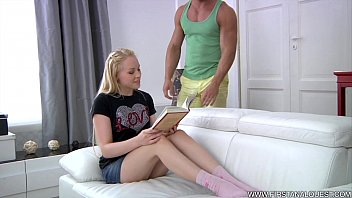 Perky blonde tits - Firstanalquest.com - first anal porn for a pale blond russian with perky tits