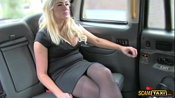 Super hot chick passenger gets her juicy pussy creampied