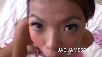 Cute tattooed asian college girl Jae likes to suck dick and get Pussy fucked closeup.