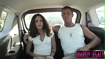 Young smoker Amina Sky fucked roughly in the back of a van barelylegal small-tits amina-sky